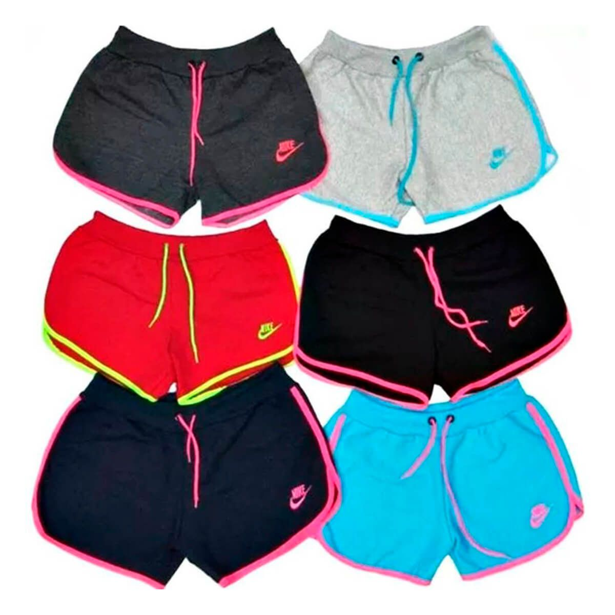 Kit C10 Shorts Moletom Feminino Nike