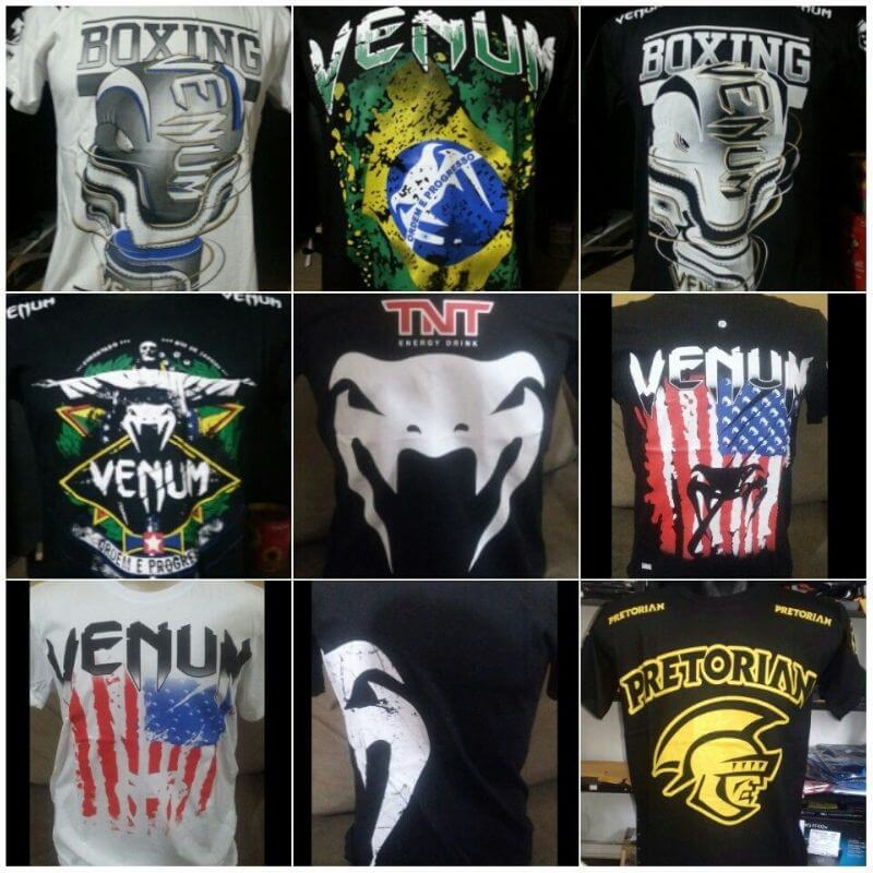 KIT 5 CAMISETA MASCULINA MMA UFC ALGODÃO FIO 30.1 ESTAMPADA