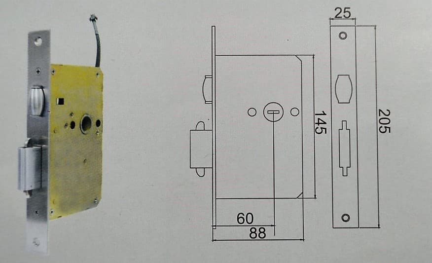 Fechadura Digital Ébano 1000 - E1000