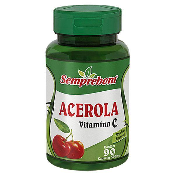 Acerola 500mg (Vitamina C) - Original - (90 cápsulas)