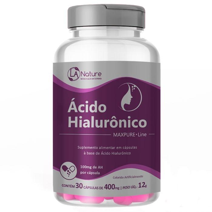 Ácido Hialurônico Concentrado MaxPure Line Original 400mg - 30 cápsulas