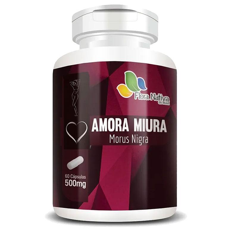 Amora Miúra Morus Nigra - A Legítima 500mg - 60 cápsulas