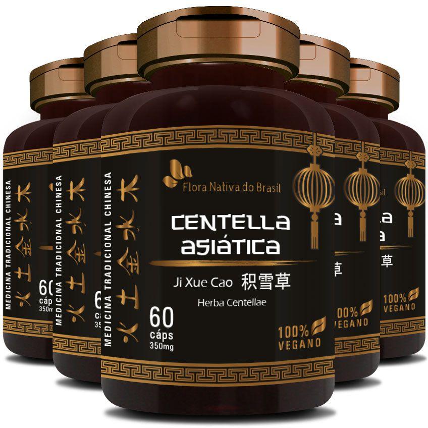 Centella Asiática (Herba Centellae) 350mg - 05 Potes (300 cáps.)
