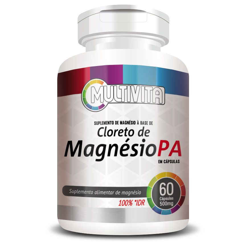 Cloreto de Magnésio PA 500mg - 60 cápsulas