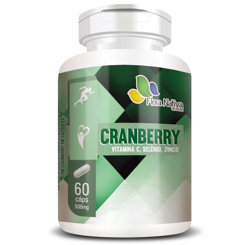 Cranberry + Vitamina C, Selênio e Zinco - 60 cápsulas de 500mg
