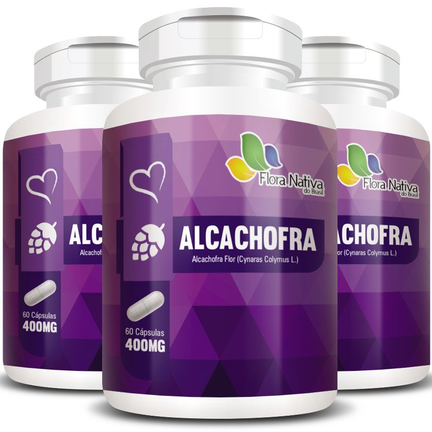 Alcachofra 400mg -  A Legítima - 3 Potes (180 cáps)