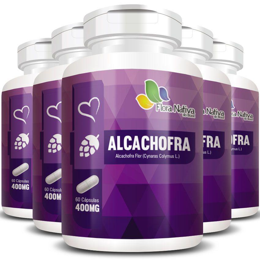Alcachofra 400mg -  A Legítima - 5 Potes (300 cáps)