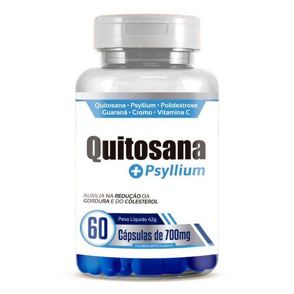 Quitosana + Psyllium Original 700mg - 60 cápsulas