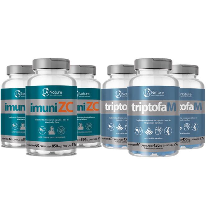 Kit - ImuniZC (Zinco + Vitamina C) + TriptofaM (Triptofano + Magnésio)