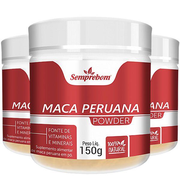 Maca Peruana em Pó - Powder - 150g - 100% Pura - 03 Potes
