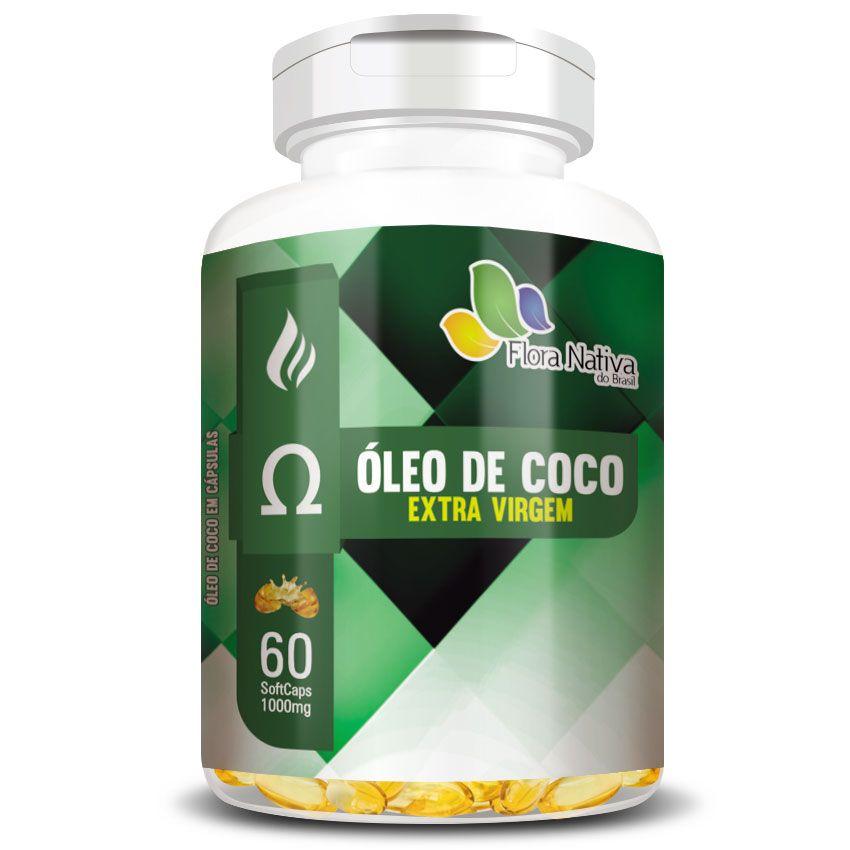 Óleo de Coco 1000mg (Cocos Nucifera L.) - 60 cápsulas