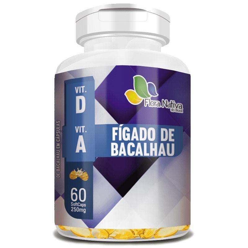 Óleo de Fígado de Bacalhau Puro 250 mg - 60 cápsulas