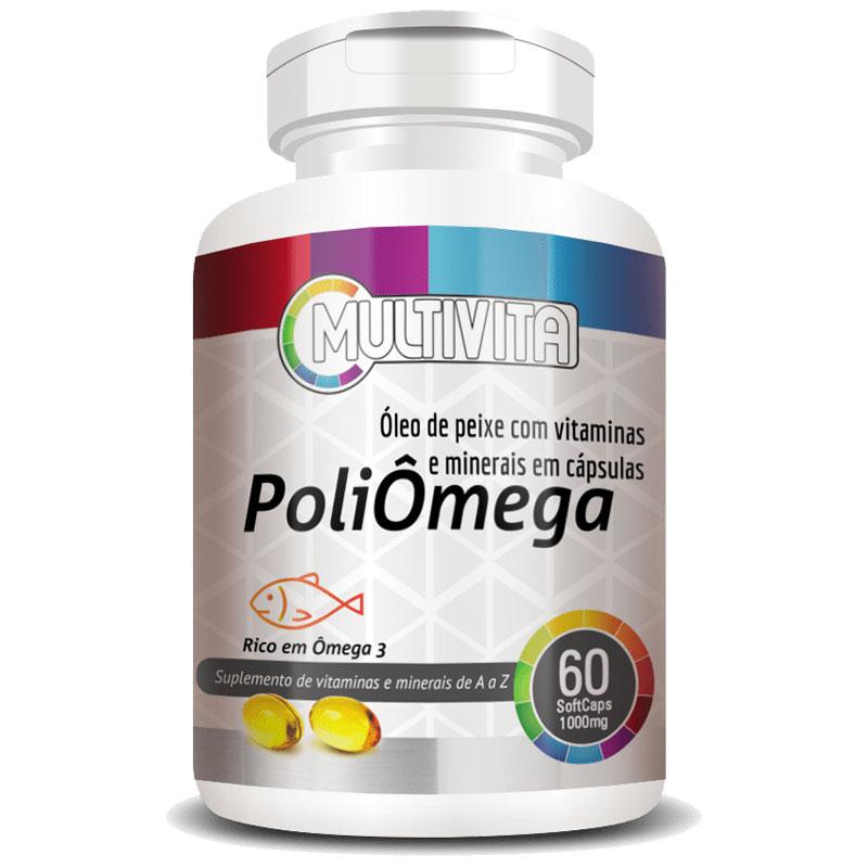 PoliÔmega 1000mg (Ômega 3 + Vitaminas e Minerais) - 60 Cápsulas
