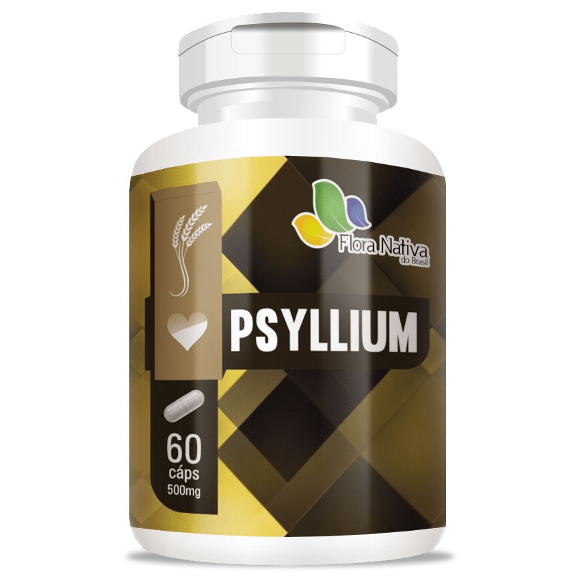 Psyllium (Plantago Ovata) 500mg Fibras - 60 cápsulas