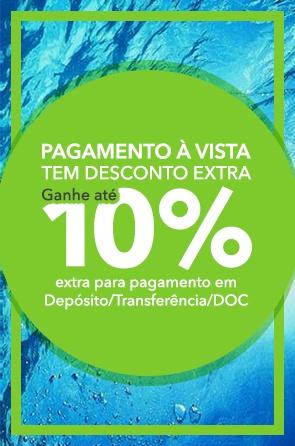Pague via Depósito/ Transferência/ DOC diretamente na nossa conta e ganhe 10% de desconto extra!