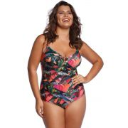 Maiô de Praia Plus Size Tropical Sun