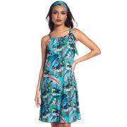 Vestido de Praia Tropical Blue