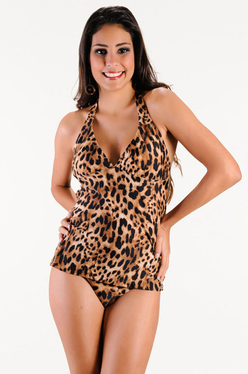 TANKINI ANIMAL PRINT ANIMALE M