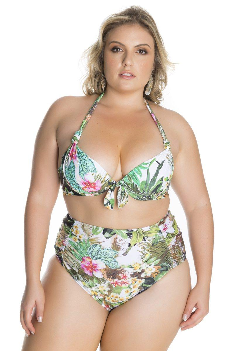 BIQUINI HOT PANT HIBISCUS BEACH PLUS SIZE