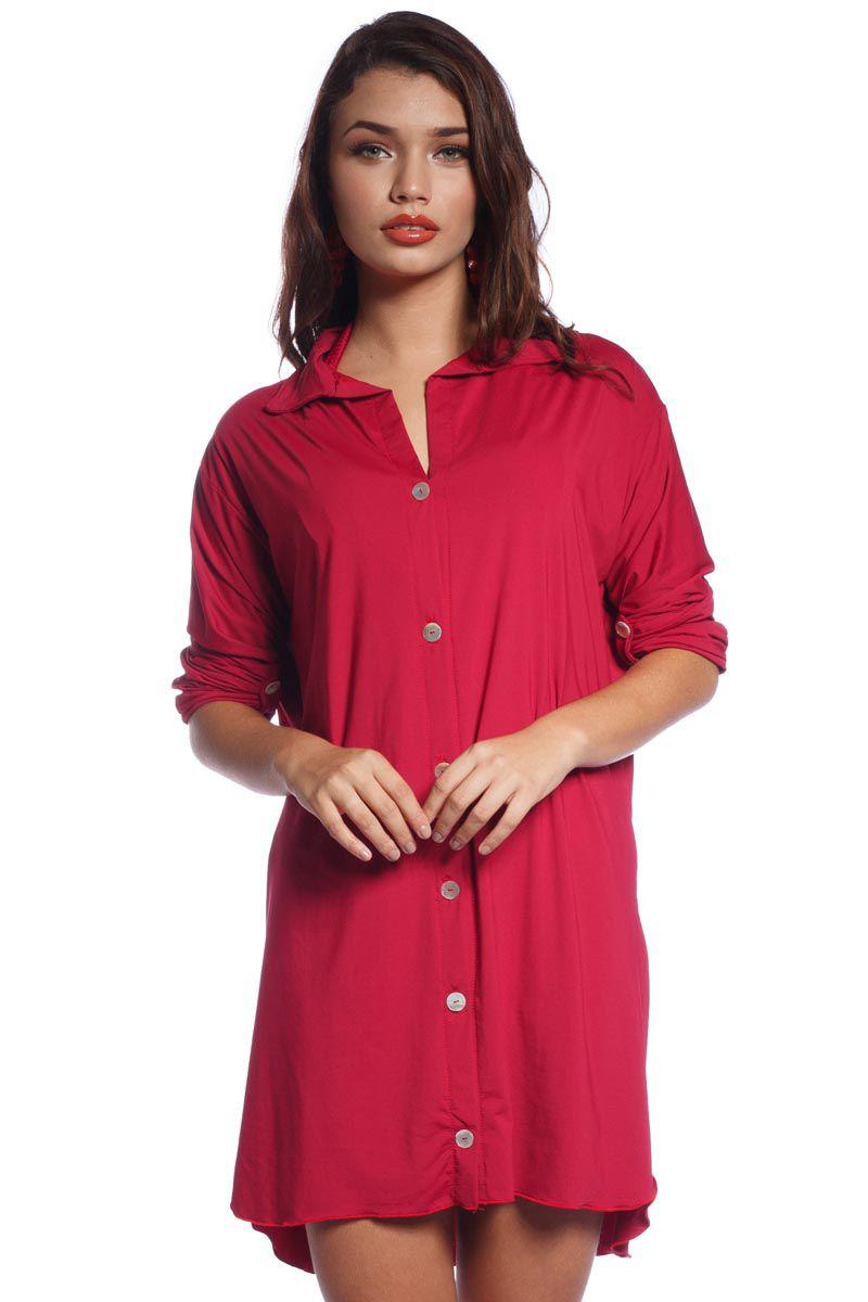 Saída de Praia Vermelha Camisa Pitaya
