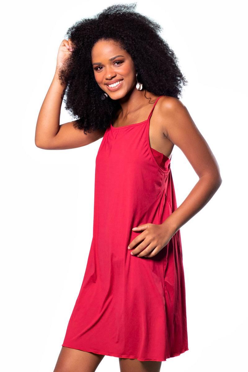 Vestido Regata Soltinho Vermelho