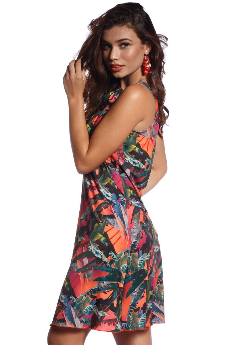 Vestido Saída de Praia Tropical Sun