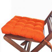 Assento Para Cadeira Futon 40x40 Cm Laranja