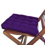 Assento Para Cadeira Futon Tecido Oxford 40x40cm Roxo