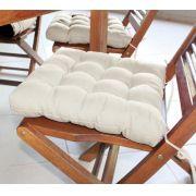 Assento Para Cadeira Tecido Futon  - Bege