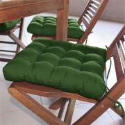 Assento para cadeira Tecido Oxford  Futon  Verde Bandeira