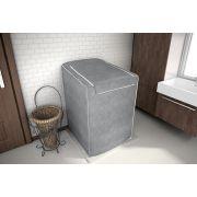 Capa para maquina de lavar Eletrolux, Brastemp, Consul 12, 13, 15 e 16 KG Cinza
