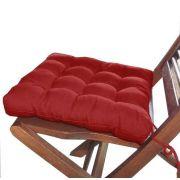 Jogo 6 Assentos P/Cadeira Tecido Oxford 40x40cm Vermelho