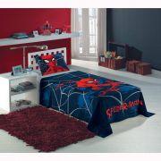 2b5845ee59 Jogo De Cama Solteiro Spider Man 2 Peças Azul-marinho Lepper