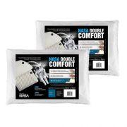 Kit 2 Travesseiros Double Comfort Fibrasca Com Massageador