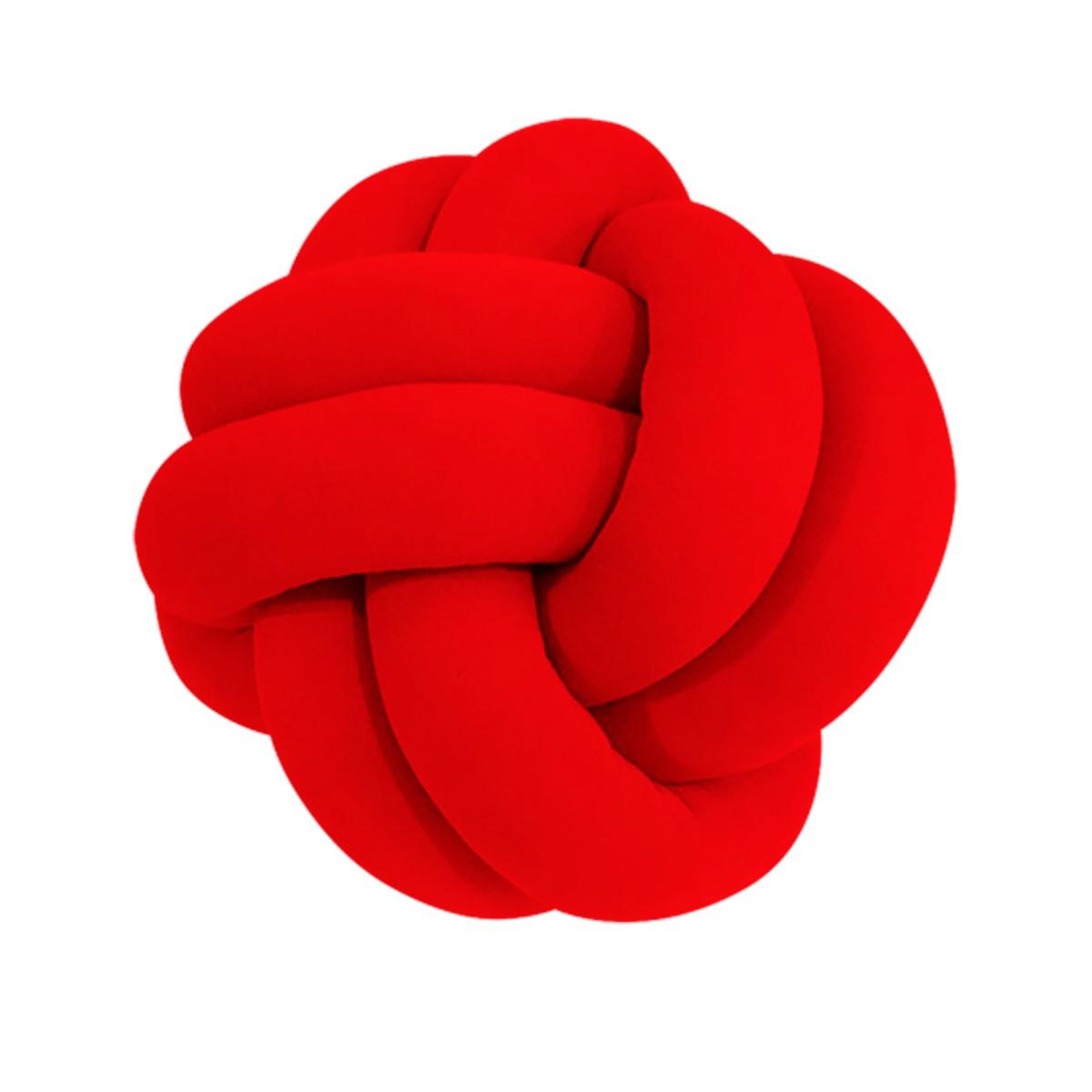 Almofada de No Escandinavo Decorativa Vermelho 29cm