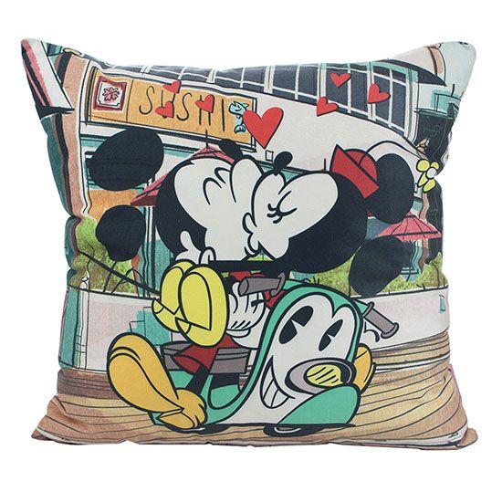 Almofada Fibra de Veludo Mickey E Minnie