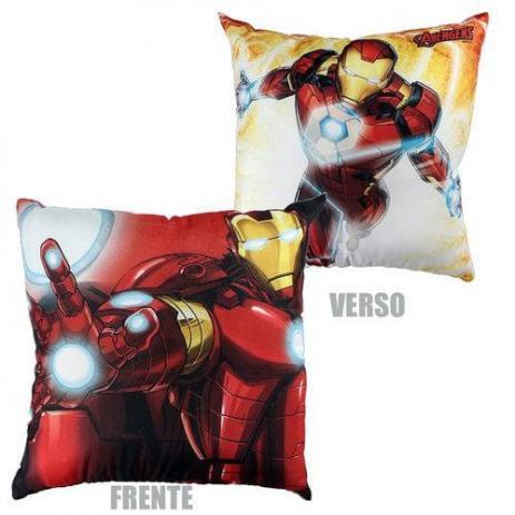 Almofada Fibra Microfibra 40X40cm Avengers Iron Man