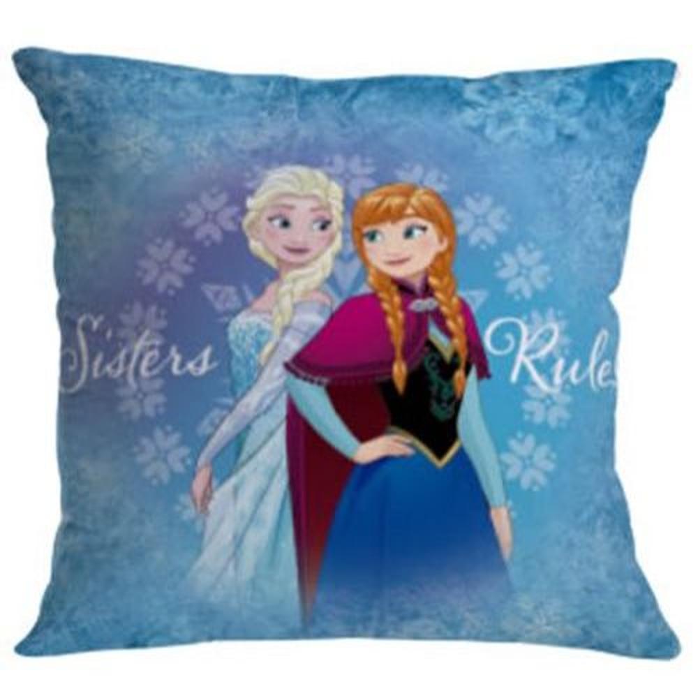 Almofada Fibra Microfibra Frozen Elsa E Anna