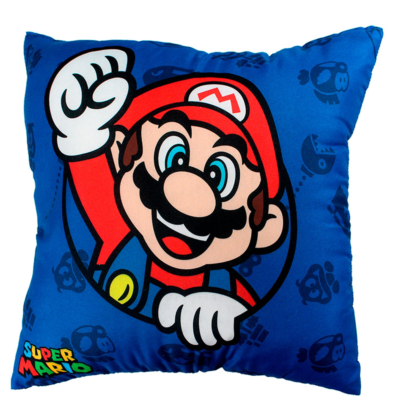 Almofada Fibra Microfibra Mario Bros NW 40x40cm