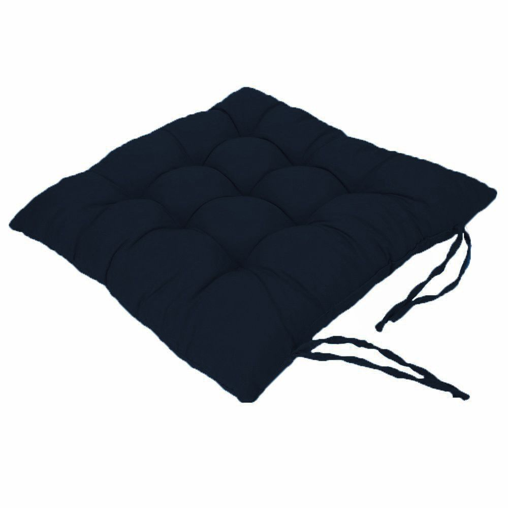 Assento Para Cadeira Futon 40X40 Cm  Azul Marinho