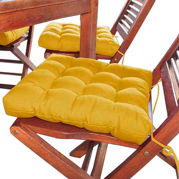 Assento Para Cadeira Futon Oxford Mostarda