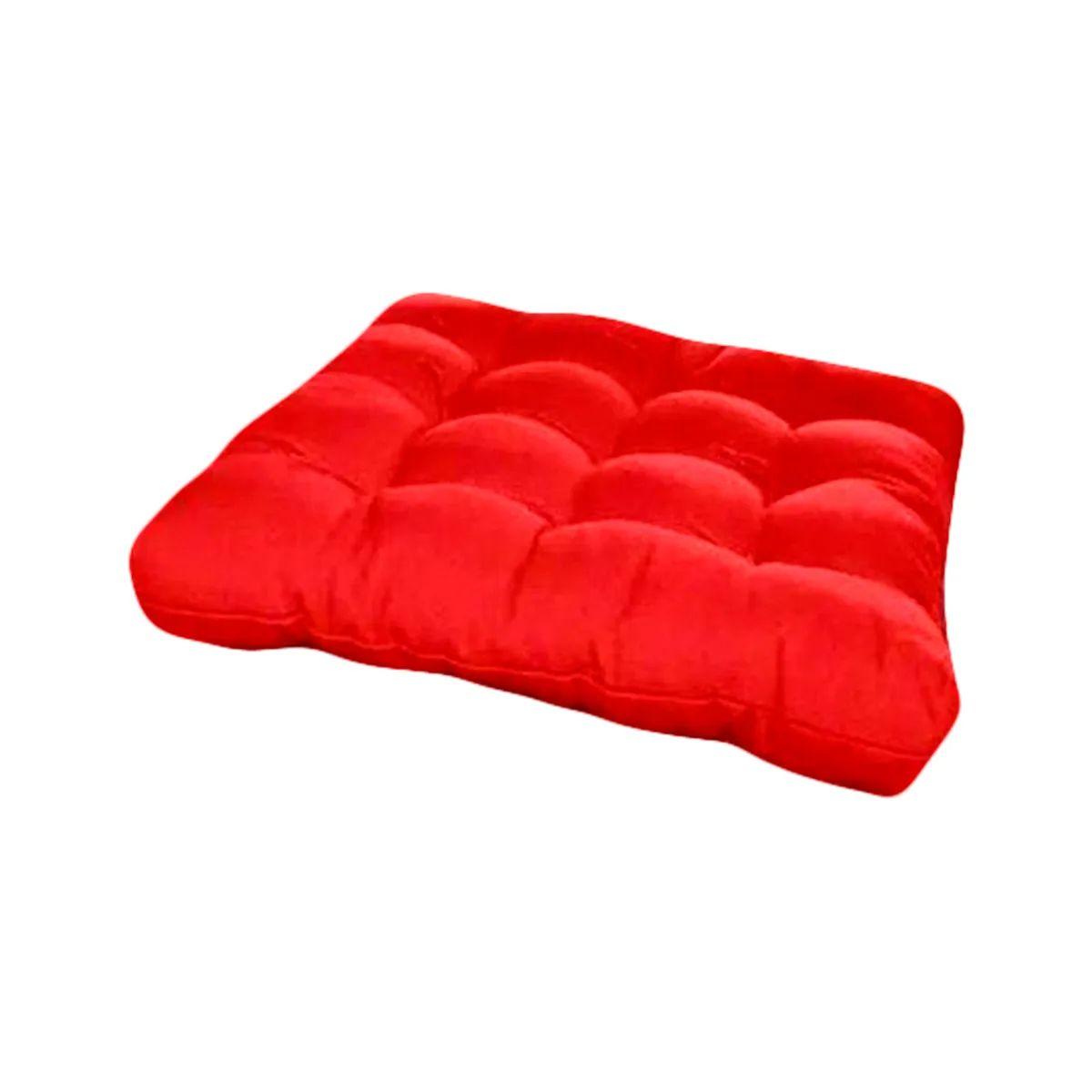 Assento Para Cadeira Futon 60x60CM - Vermelho