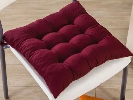 Assento Para Cadeira Futon 60x60CM - Vinho