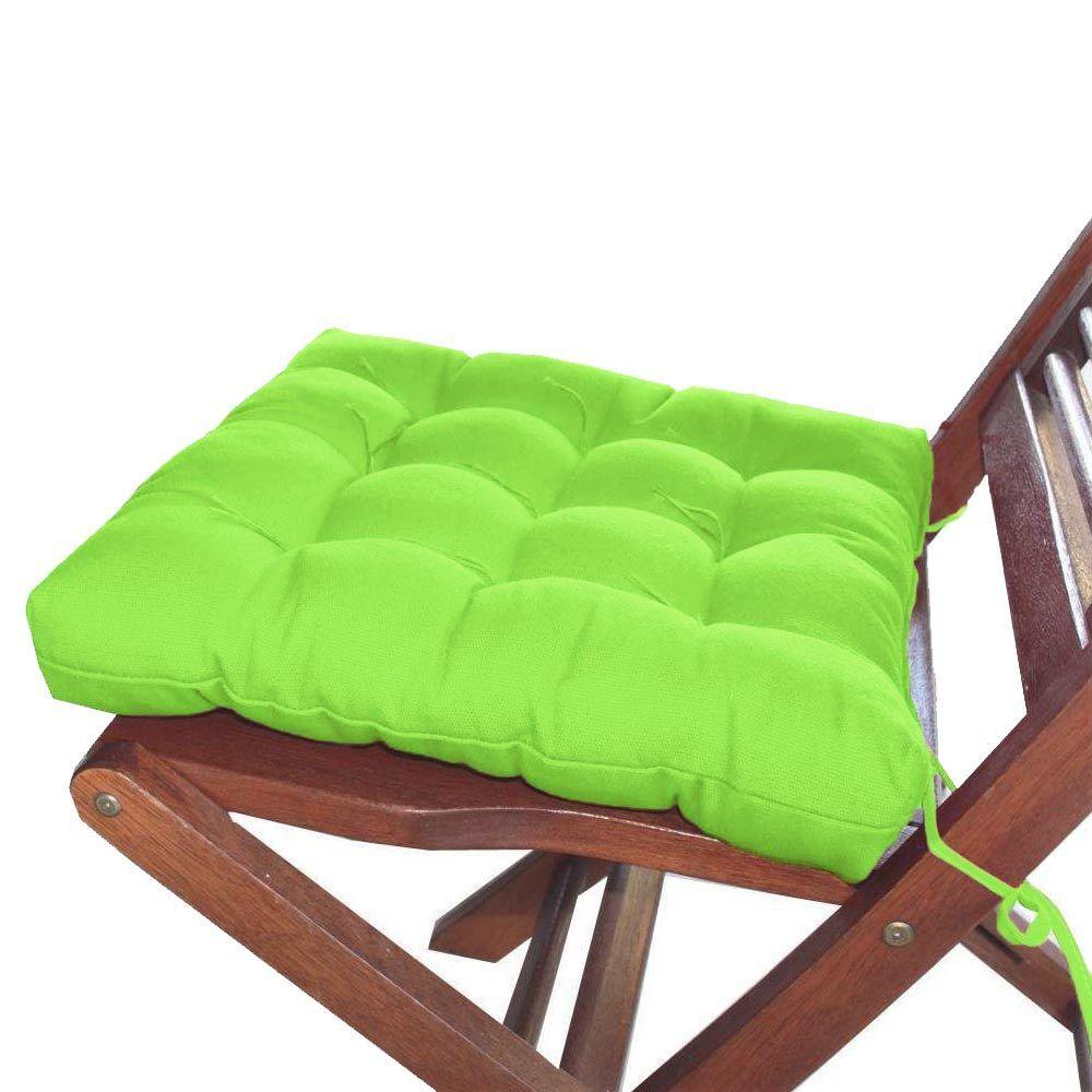 Assento Para Cadeira Futon Tecido Oxford 40x40 Cm - Verde Limão