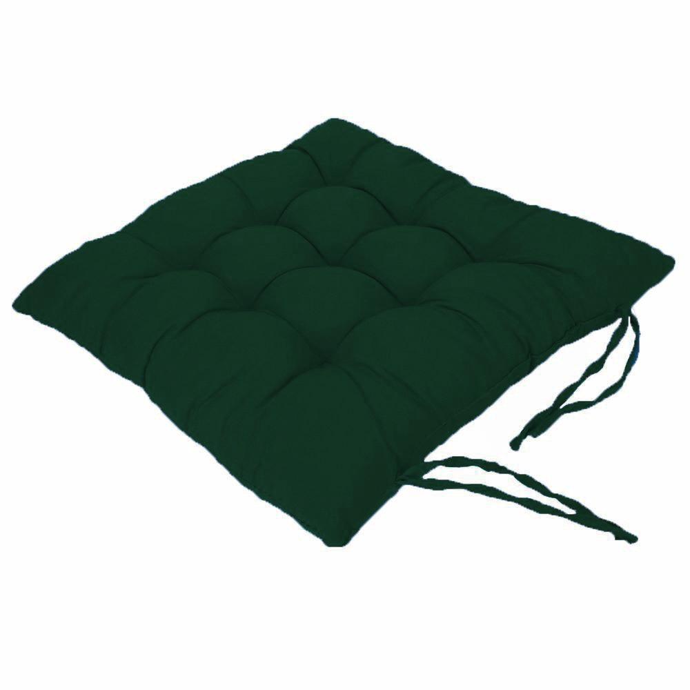 Assento Para Cadeira Futon 40x40 Cm - Verde Musgo