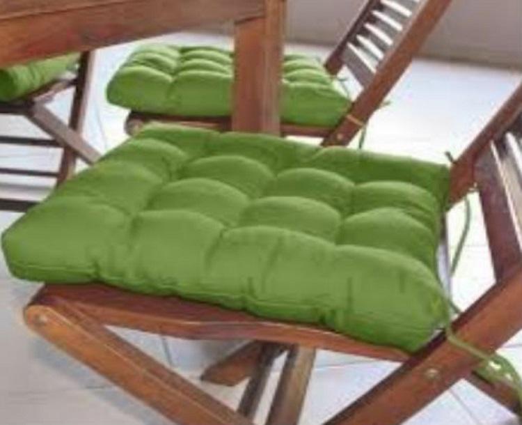 Assento Para Cadeira Futon Tecido Oxford 40x40 Cm - Verde Claro