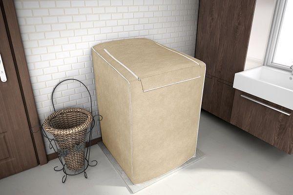 Capa P/ Maquina De Lavar Roupas Eletrolux 12kg 15kg 16kg Bege