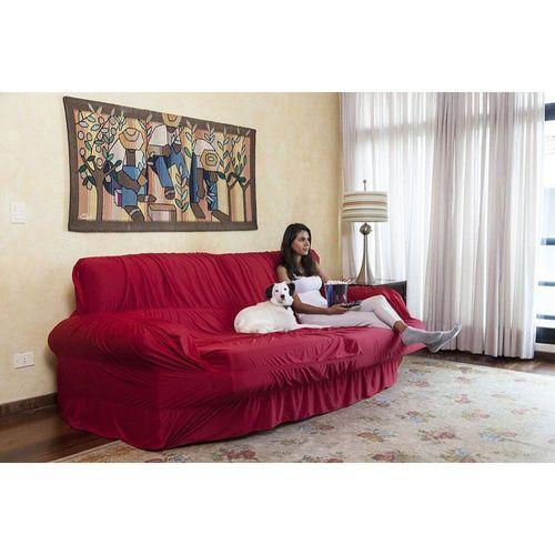 Capa P Sofa Extensivel 3 Lugares Retratil Reclinavel Vermelho
