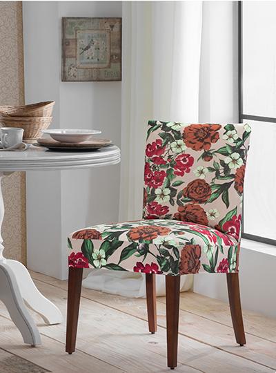 Capa Para Cadeira De Malha Estampada Primavera