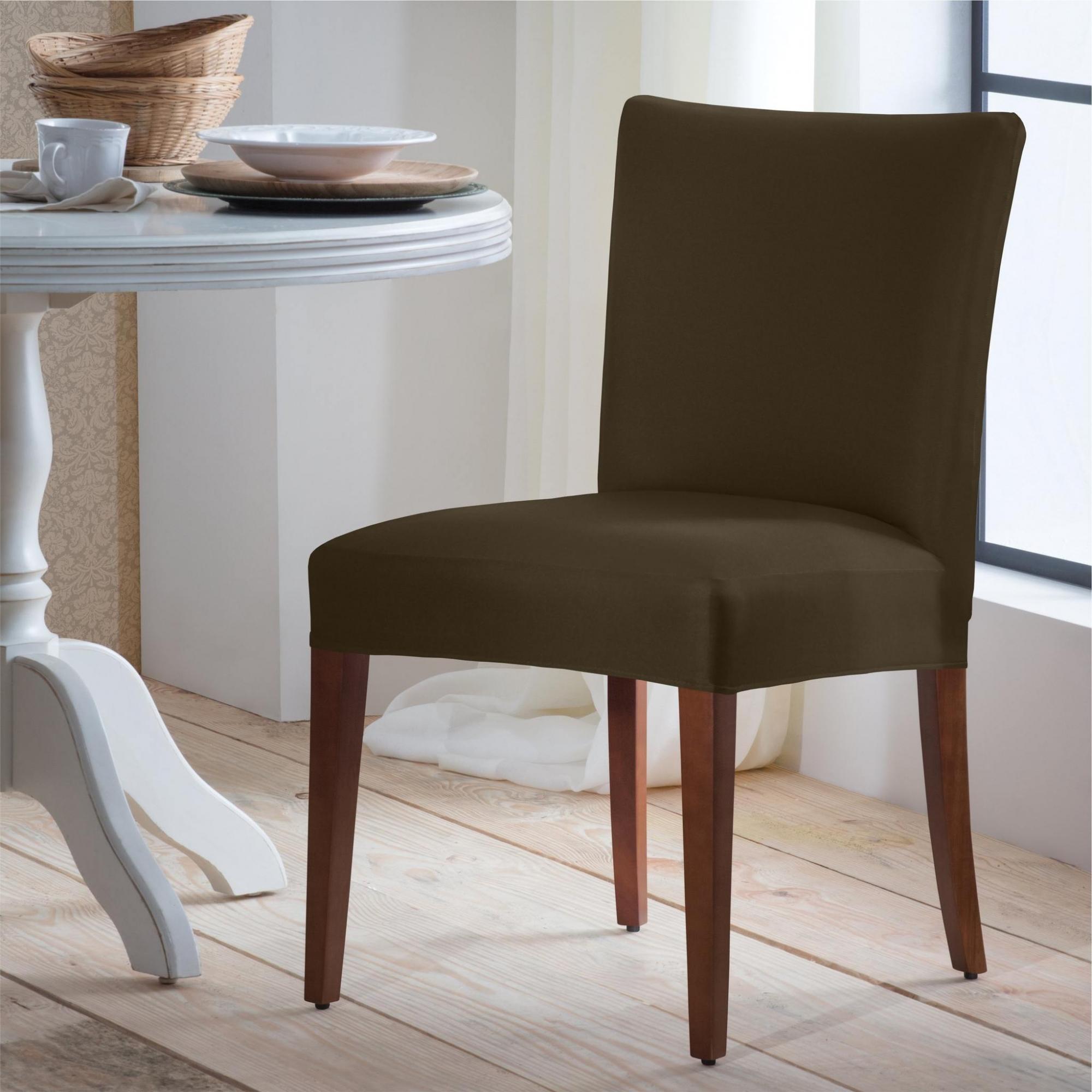 Capa Para Cadeira De Malha Lisa Marrom